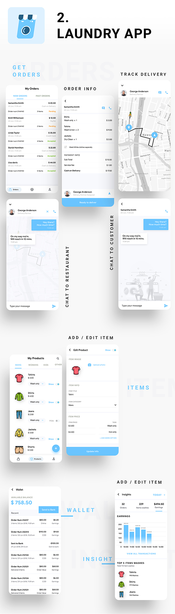Multi Vendor Laundry Booking & Delivery App| Android + iOS App Template | 3 Apps | FLUTTER | Anywash - 5