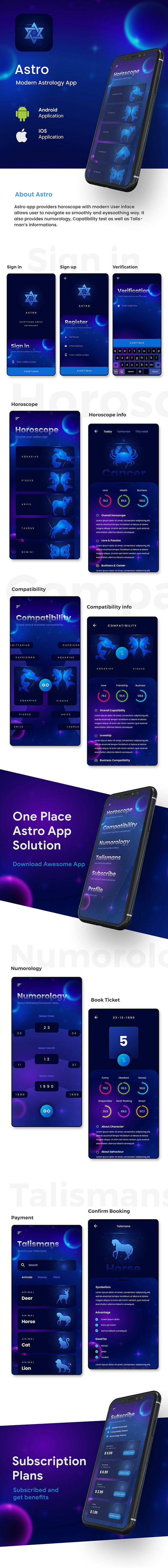Astrology & Horoscope Android App Template+ iOS App Template | IONIC 5 | Astro - 2
