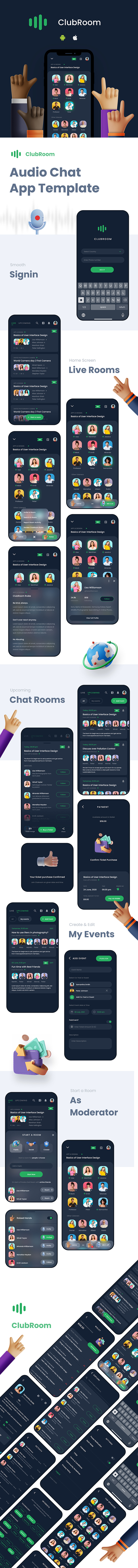 Audio Chat Android App Template + iOS App Template | FLUTTER 2 - 1