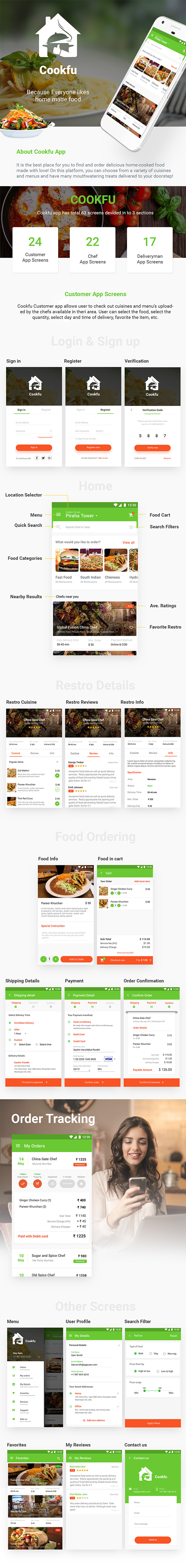 Food Ordering & Delivery Android App + iOS App Template | Cookfu (HTML+CSS files IONIC 3) - 1