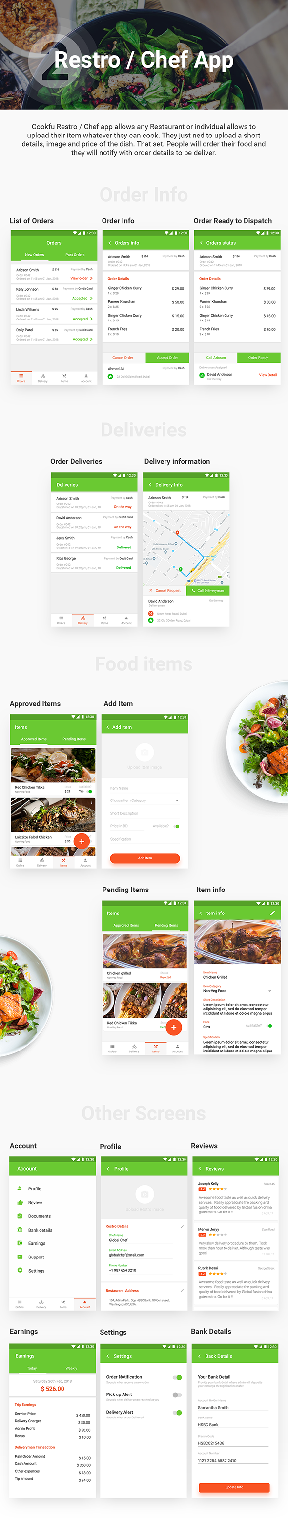Food Ordering & Delivery Android App + iOS App Template | Cookfu (HTML+CSS files IONIC 3) - 3