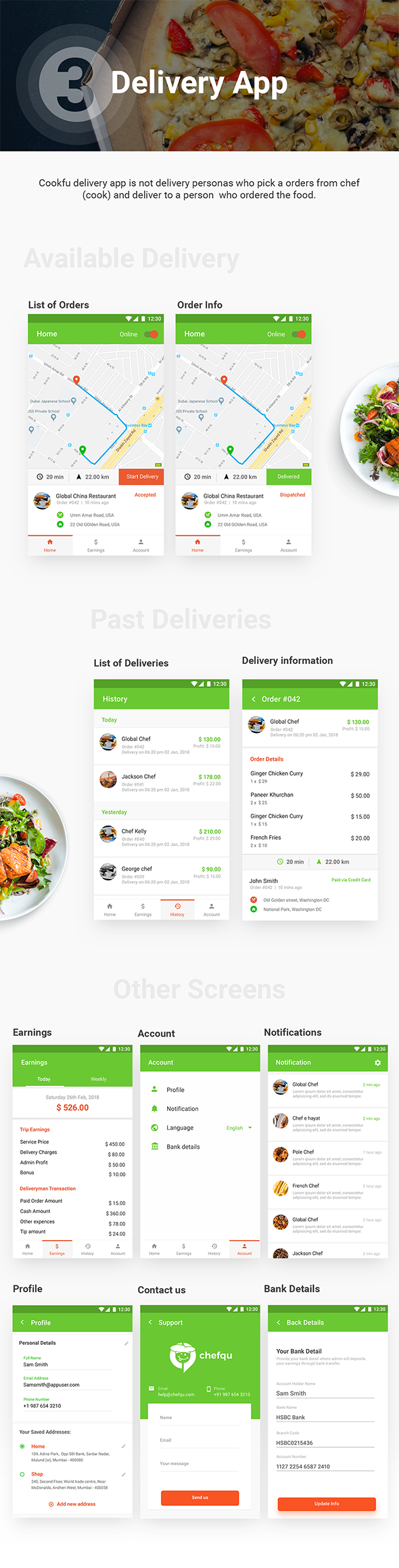 Food Ordering & Delivery Android App + iOS App Template | Cookfu