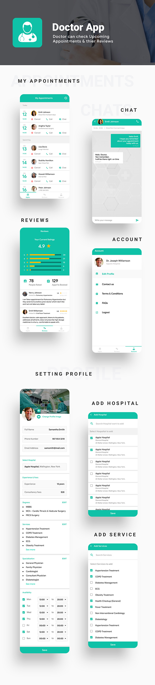 Nearby Doctor App | Doctor Appointment Booking App | 3 Apps| Android + iOS Template | IONIC 5 - 5