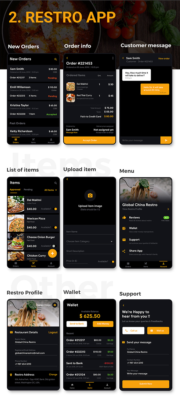 Food Ordering App | Food Delivery App | 3 Apps | Android + iOS App Template | FLUTTER | Foodish - 6