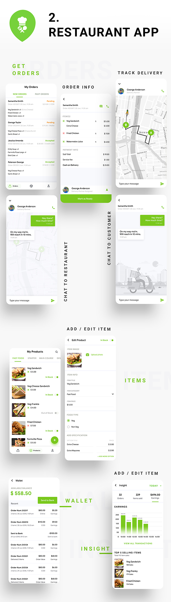 Multi Restaurant Food Ordering App | Food Delivery App | 3 Apps | Android + iOS App Template| IONIC - 3