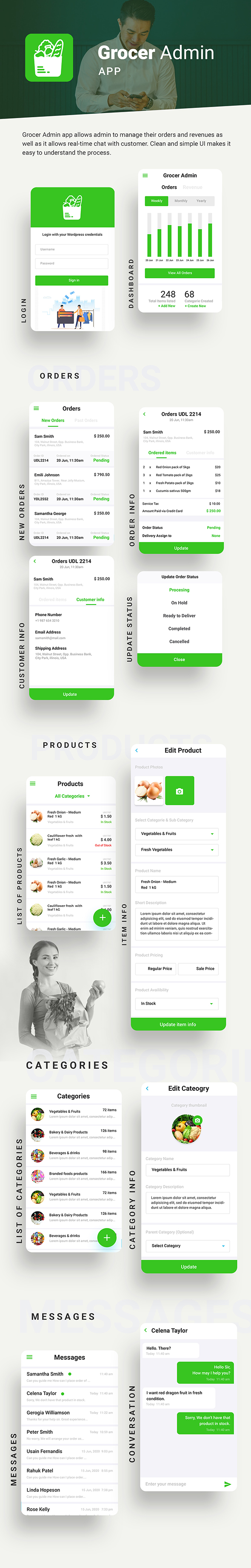 Grocery Android App + Grocery iOS App Template| 3 Apps (HTML + CSS) IONIC 5 | Grocer - 6