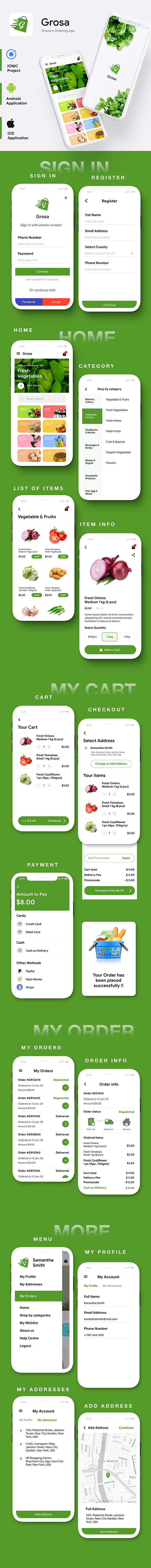 Grocery Ordering Android App Template + iOS App Template | IONIC 5 | Grosa - 3
