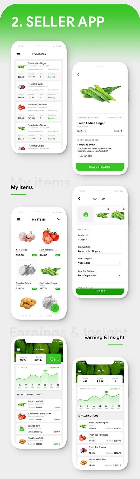 Grocery Ordering Android App Template + Ecommerce iOS App Template (HTML + CSS) (IONIC 5) | Groshop - 4