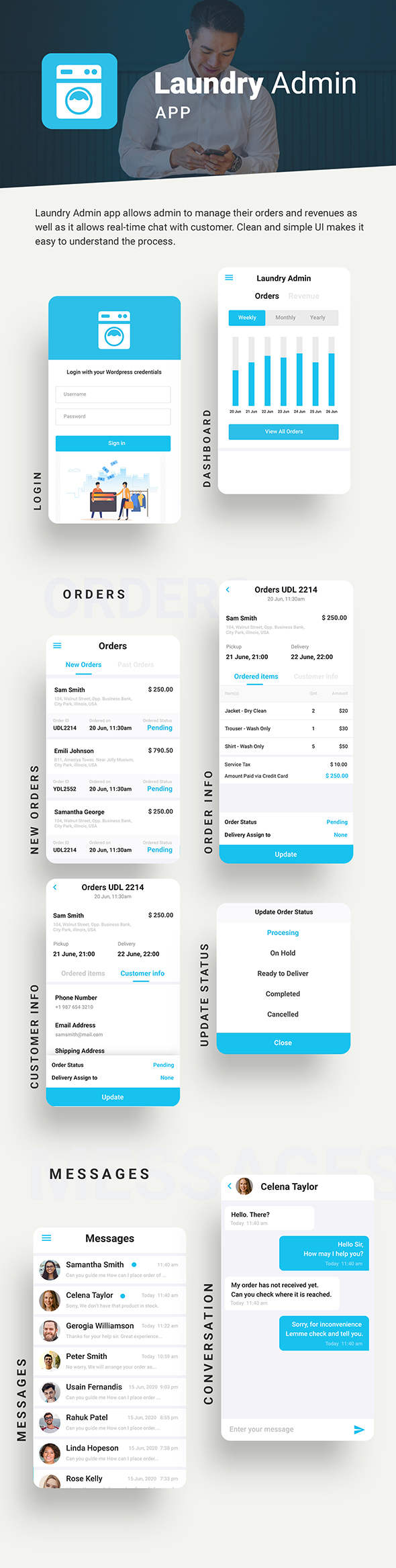 Laundry Android App + Laundry iOS App Template |3 Apps|  (HTML+CSS files IONIC 3) Quickwash - 6
