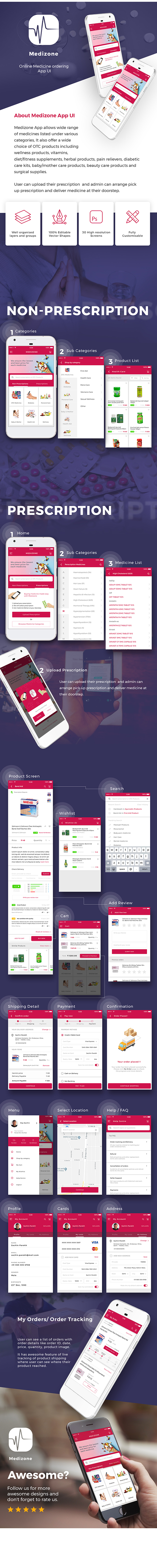 Medical Pharmacy ecommerce Android App + iOS App Template (HTML + CSS in IONIC 3 ) | Medizone - 2