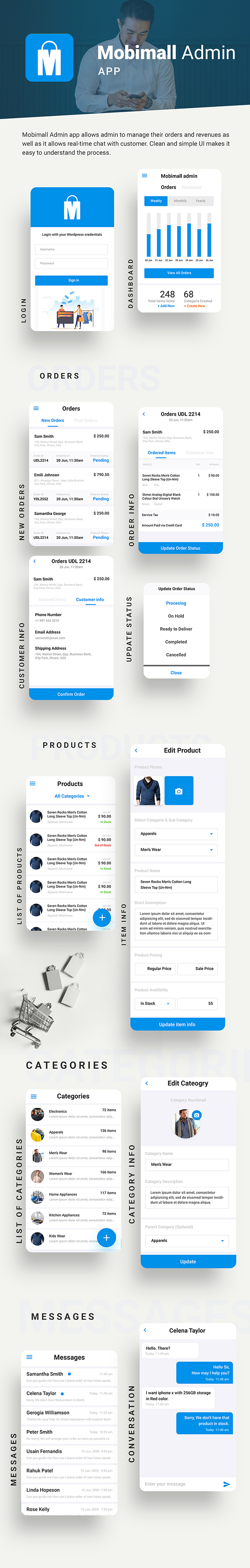 Ecommerce Android App Template + Ecommerce iOS App Template (HTML+CSS IONIC 3) | Mobimall - 5