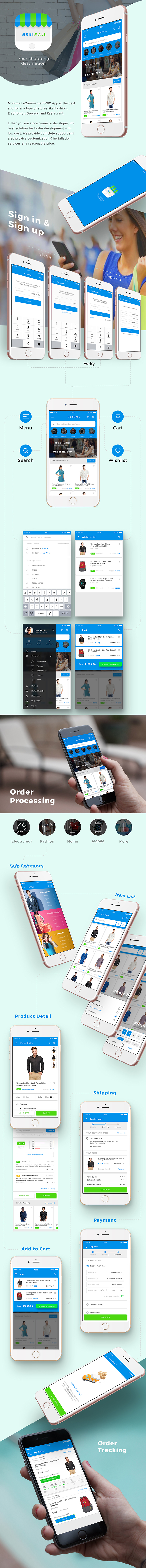 Ecommerce Android App Template + iOS App Template (HTML+CSS files IONIC 3) | Mobimall - 3