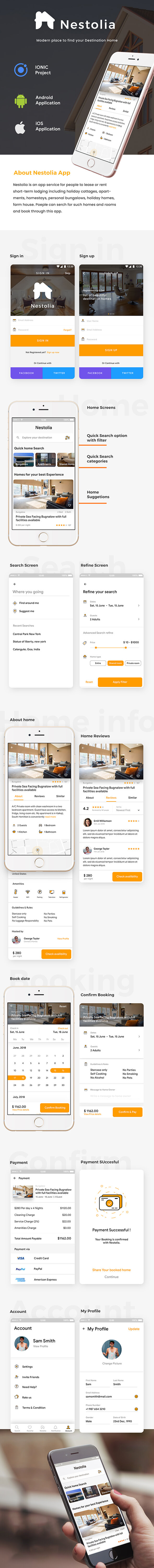 Destination Home Finder Android + iOS App Template | HTML + Css IONIC 3 | Nestolia - 2