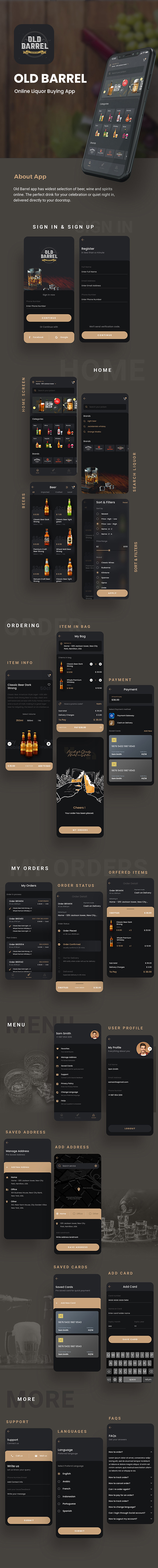 Online Liquor Buying Android App + iOS App Template   IONIC 5   OLD BARREL - 4