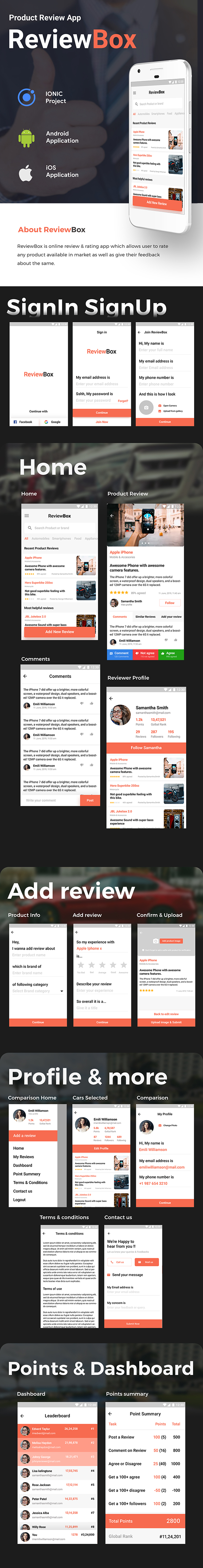 Online Review Android + iOS App Template | HTML + Css IONIC 3 | ReviewBox - 2