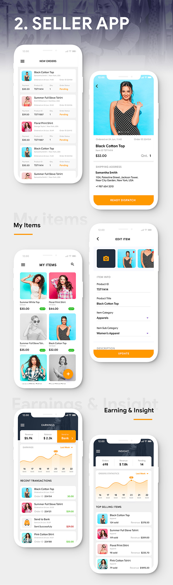 Modern Ecommerce Android App Template + Ecommerce iOS App Template (HTML + CSS) (IONIC 5) | ShopCart - 4