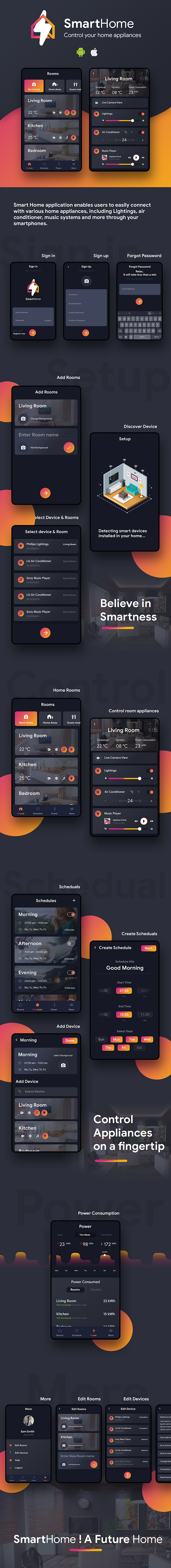 Smart Home Android + iOS App Template | HTML + Css IONIC 3 - 2