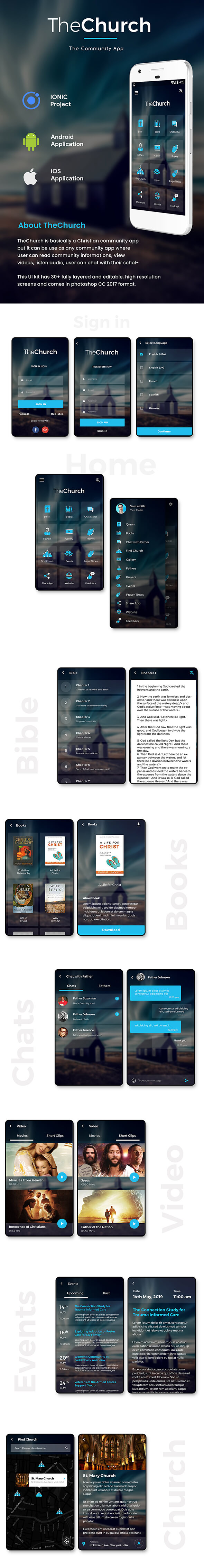 Church & Community Android + iOS App Template | HTML + Css IONIC 3 | OneGod - 2