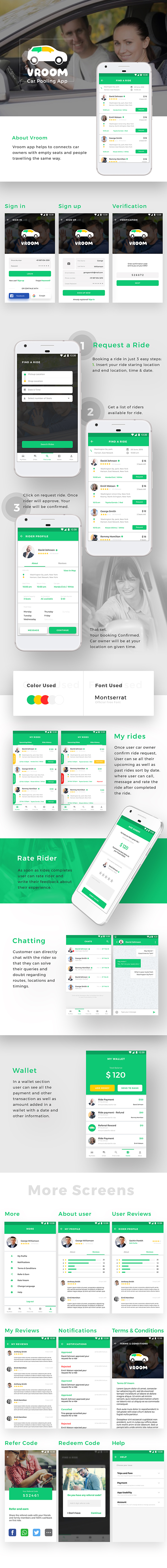 Car Pooling Android + iOS App | 2 Apps Rider + Driver | Flutter Template - 1