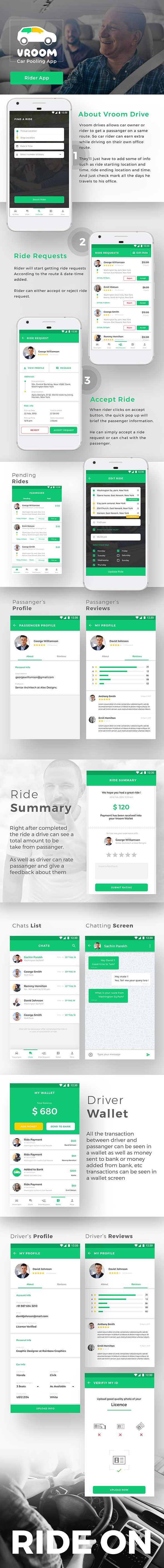Car Pooling Android + iOS App | 2 Apps Rider + Driver | Flutter Template - 4