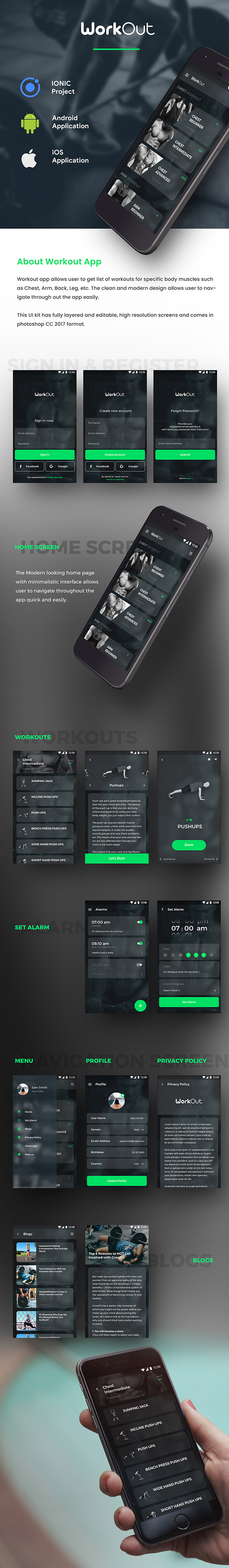 Workout Android App Workout Ios App Template Html Css In