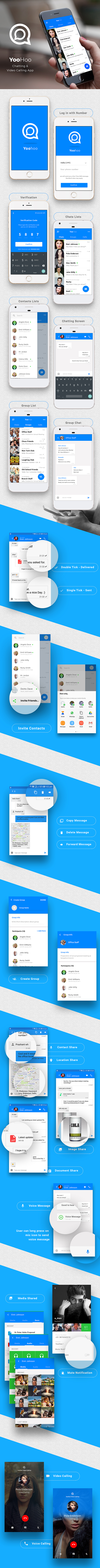 Get - YooHoo v5 0 - Android Chatting App with Voice/Video Calls