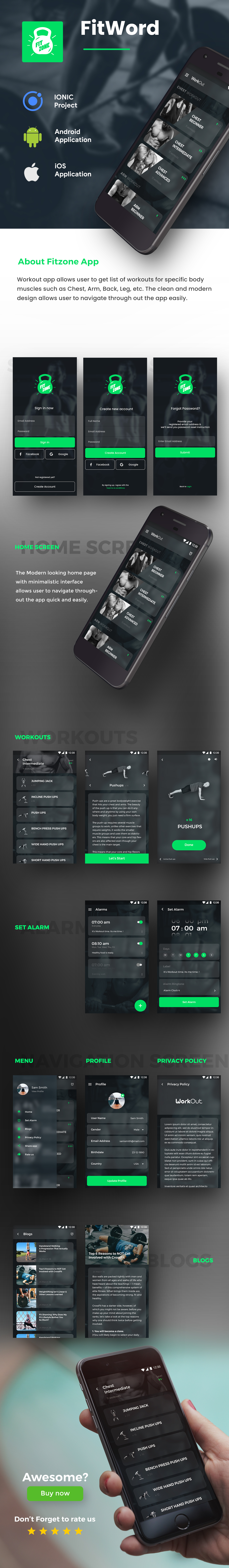 Fitness Workout Android App + Workout iOS App | Template (HTML + CSS in IONIC 5) - 5