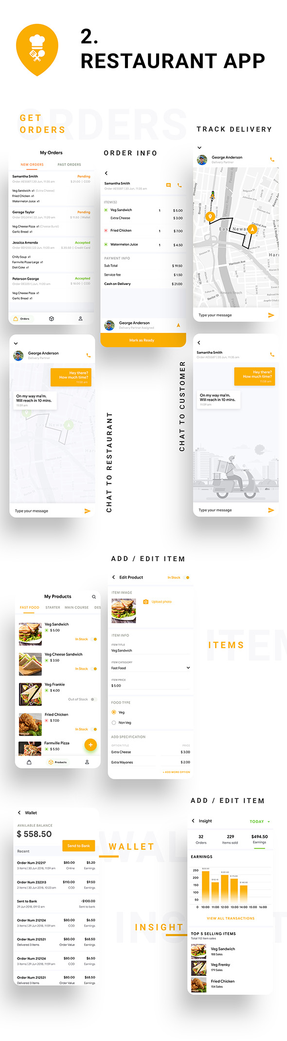 6 in 1 multi Restaurant Food Ordering App|Food Delivery App|Android+iOS App Template|Flutter Hungerz - 10